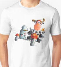 Cow rides the motorbike Unisex T-Shirt