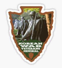 Korean War Veterans Memorial arrowhead Sticker