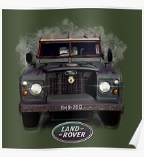 Land Rover 1948-2017 by MotorManiac Poster