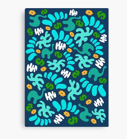 Prehistoric Pattern Canvas Print