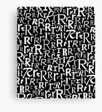 R | Typography (Black) Canvas Print