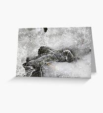 Winter Ice 1 Greeting Card