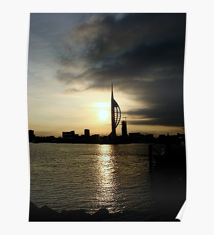 Storm clouds over the Spinnaker Tower Poster