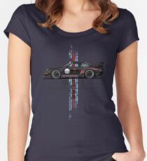 vintage racing Women's Fitted Scoop T-Shirt