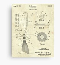 Flying Broomstick Patent Drawing Canvas Print