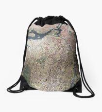 Scale-Model Manhattan, Bronx, New York City Drawstring Bag