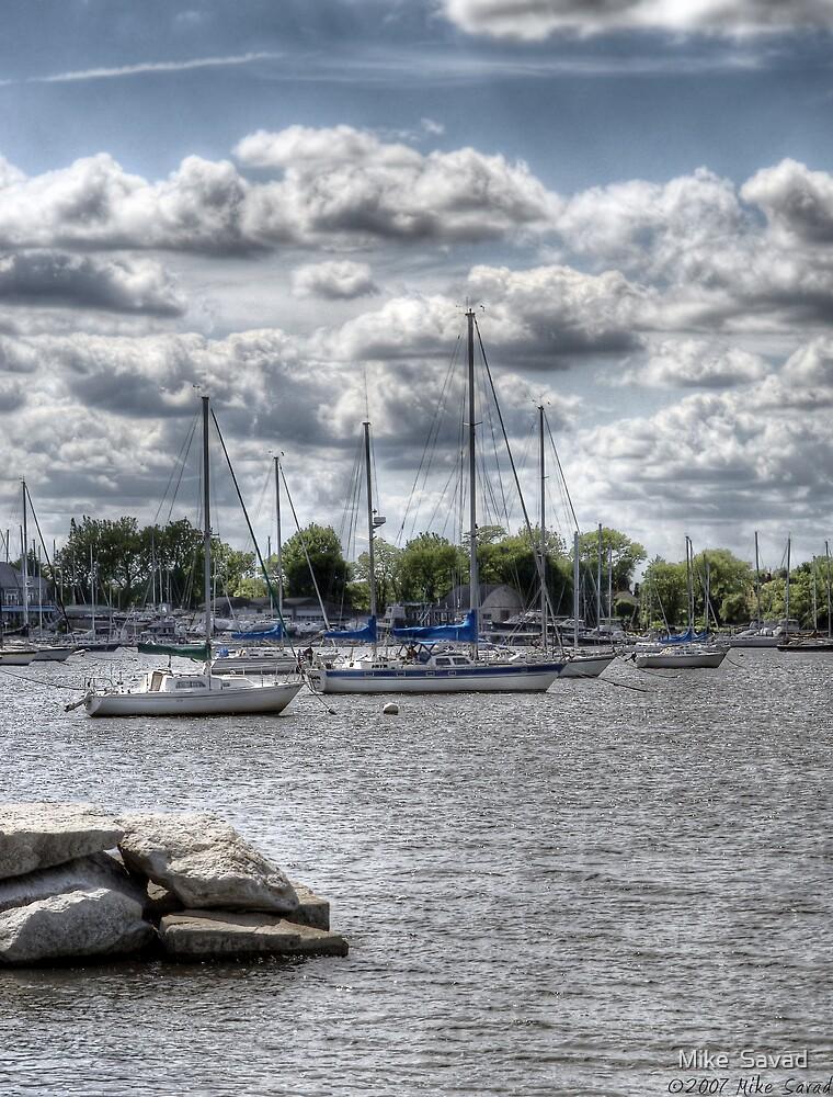 Sail boats by Mike  Savad
