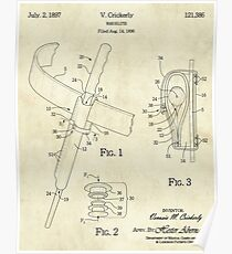 Wand Holster Patent Poster