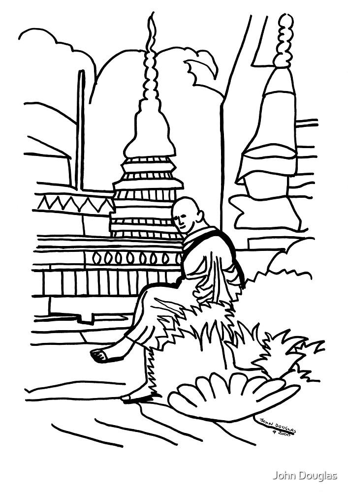Resting Monk by John Douglas