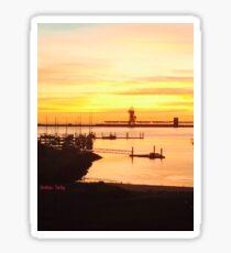 Harbour sunrise  Sticker