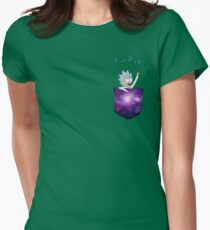 Tiny Rick! Womens Fitted T-Shirt