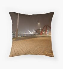 Newport Docks Throw Pillow