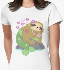 Pretty Mersloth  Womens Fitted T-Shirt