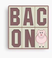 Bacon with Cartoon Piglet Canvas Print