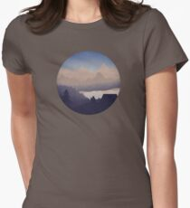Remote Location - Sky Womens Fitted T-Shirt