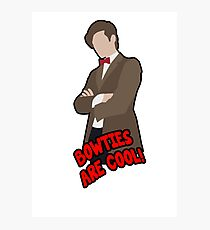 Doctor Who || Bowties are Cool Photographic Print
