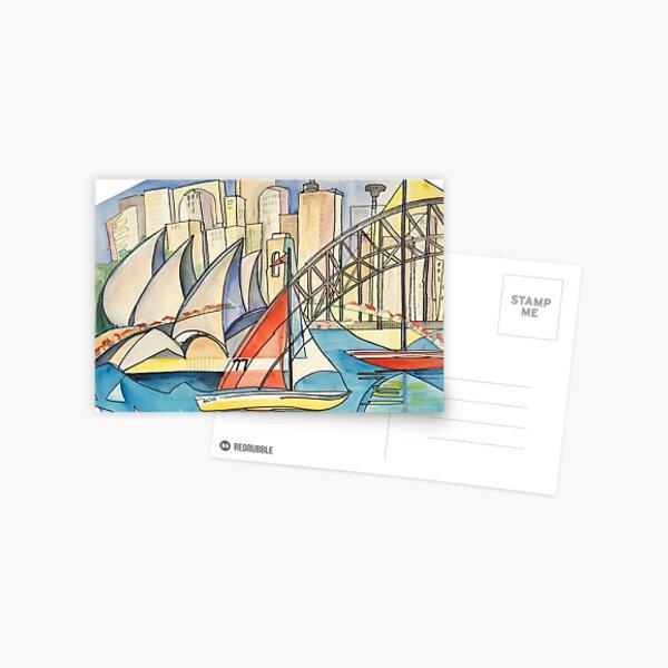 Sydney Harbor Australia Postcard