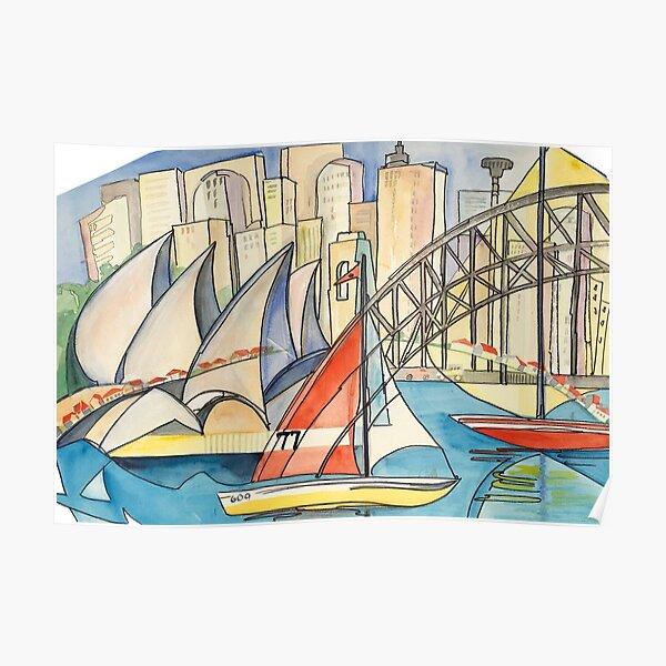 Sydney Harbor Australia Poster