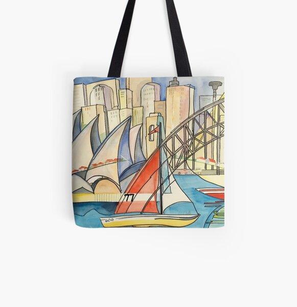 Sydney Harbor Australia All Over Print Tote Bag