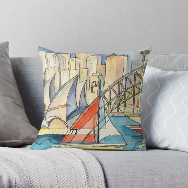 Sydney Harbor Australia Throw Pillow