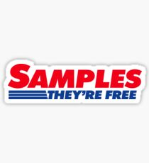 Costco Samples - They're Free Sticker