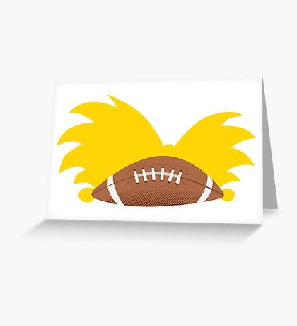 Football Head Greeting Card