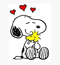 Snoopy Hugging Photographic Print