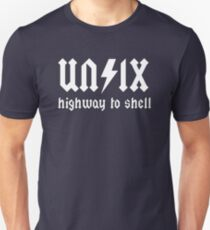 UNIX - Highway to Shell Unisex T-Shirt