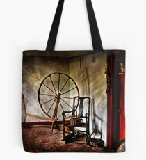 Spinning wheel and a chair Tote Bag