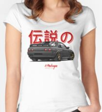 Nissan Skyline R32 GTR (black) Women's Fitted Scoop T-Shirt