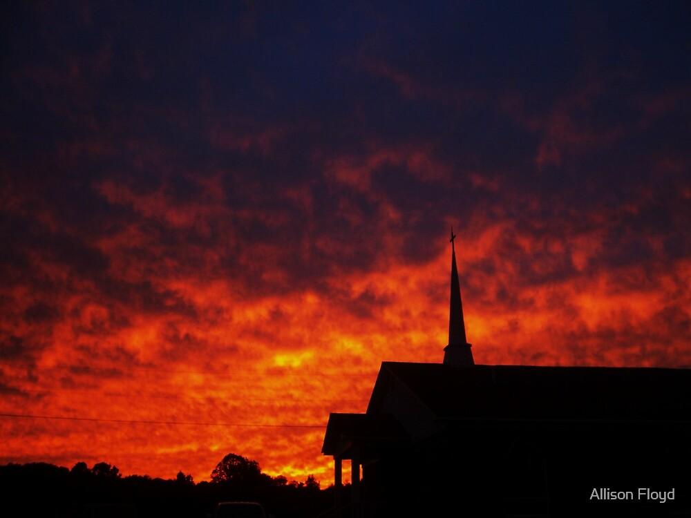 Sunset Church by Allison Floyd
