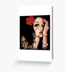 Smoke Girl Greeting Card
