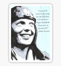 Amelia Earhart Sticker
