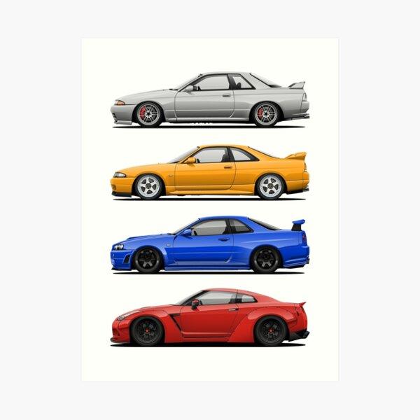 Skyline GTR. Generation Art Print