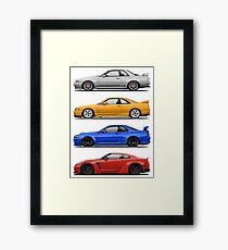 Skyline GTR. Generation Framed Print