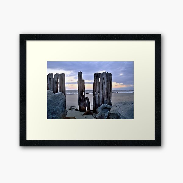 Cloudy Sunrise Framed Art Print