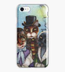 Victorian Christmas Caroling Cats iPhone Case/Skin