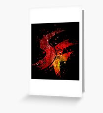 Street Fighter Splatter Greeting Card