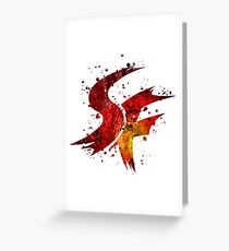 Street Fighter Splatter (Lite) Greeting Card