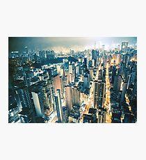 Mong Kok Night Photographic Print