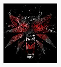 The Witcher Splatter Photographic Print