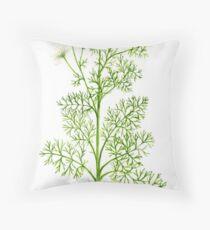 Scentless Mayweed - Matricaria inodora Throw Pillow