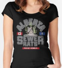 Official Alberta Sewer Rats Proud Member Women's Fitted Scoop T-Shirt