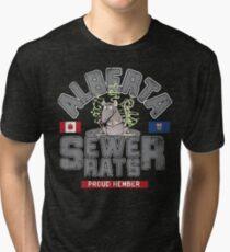 Official Alberta Sewer Rats Proud Member Tri-blend T-Shirt