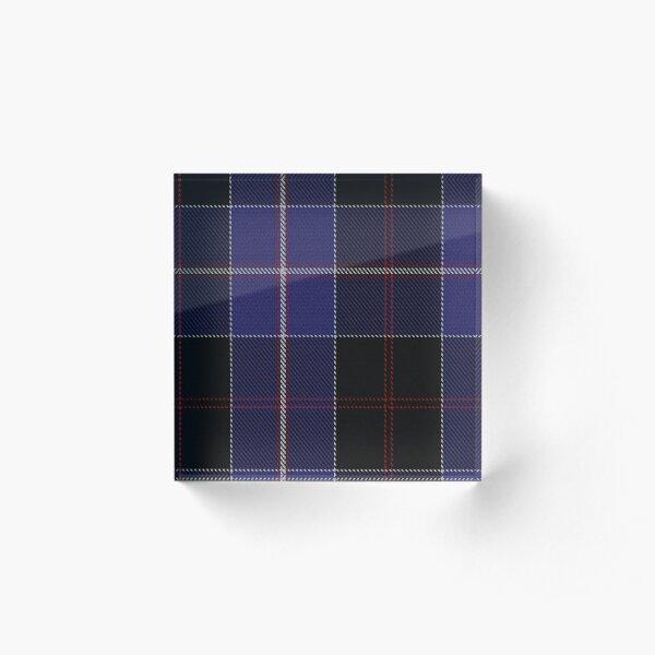 02656 Dunlop Clan/Family Tartan  Acrylic Block