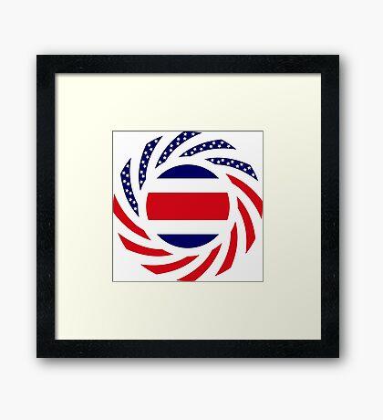 Costa Rican American Multinational Patriot Flag Series Framed Print