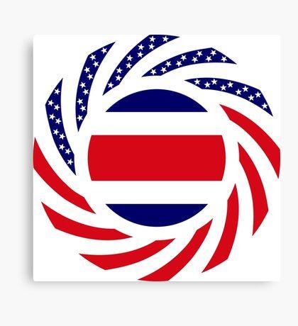 Costa Rican American Multinational Patriot Flag Series Canvas Print
