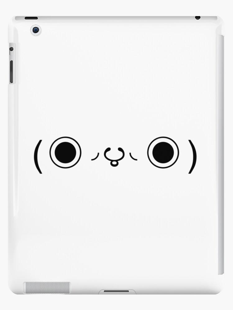'Japanese Kaomoji - Big Eyes' iPad Case/Skin by kaomojiclassics