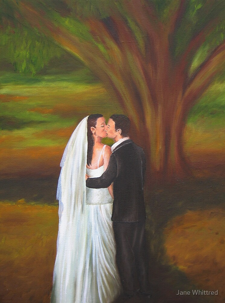 Romantic Wedding Kiss by Jane Whittred