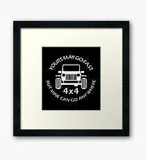Go Fast Go Anywhere Jeep Framed Print